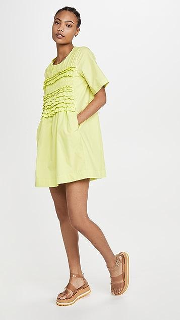 ENGLISH FACTORY Ruffle Tee Dress