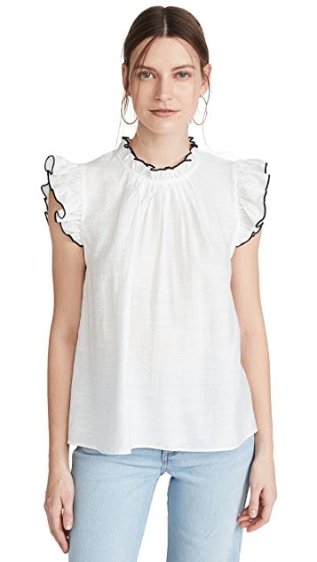 ENGLISH FACTORY Ruffle Blouse