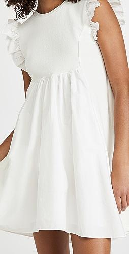 ENGLISH FACTORY - Knit Poplin Mixed Dress
