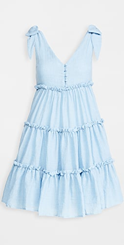 ENGLISH FACTORY - Tie Shoulder Mini Dress