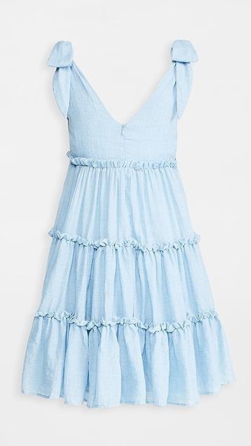 ENGLISH FACTORY Tie Shoulder Mini Dress