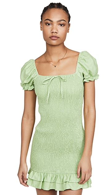 ENGLISH FACTORY Smocked Mini Dress
