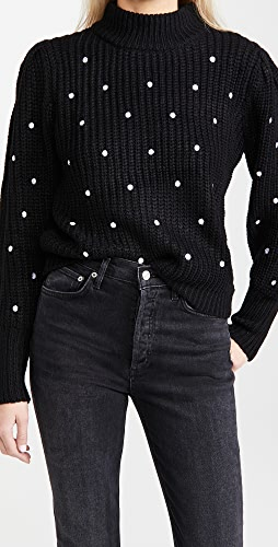 ENGLISH FACTORY - Dot Embroidered Sweater