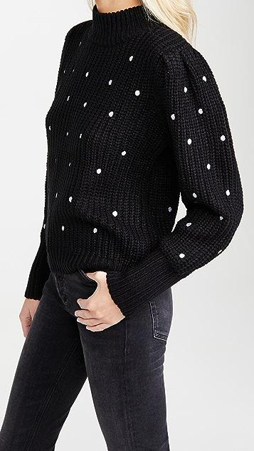 ENGLISH FACTORY 圆点刺绣毛衣
