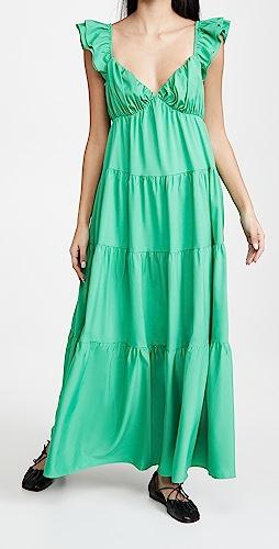 ENGLISH FACTORY - Ruffle Sleeve Maxi Dress