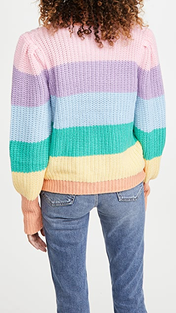 ENGLISH FACTORY Pastel Multi Color Sweater