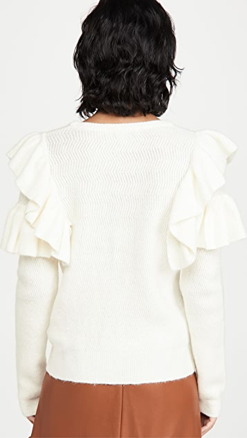 ENGLISH FACTORY Ruffle Detail Sweater
