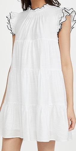 ENGLISH FACTORY - Contrast Stitch Babydoll Dress