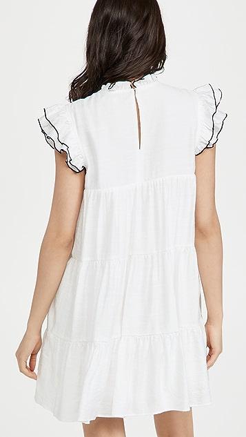 ENGLISH FACTORY 撞色缝线娃娃装连衣裙