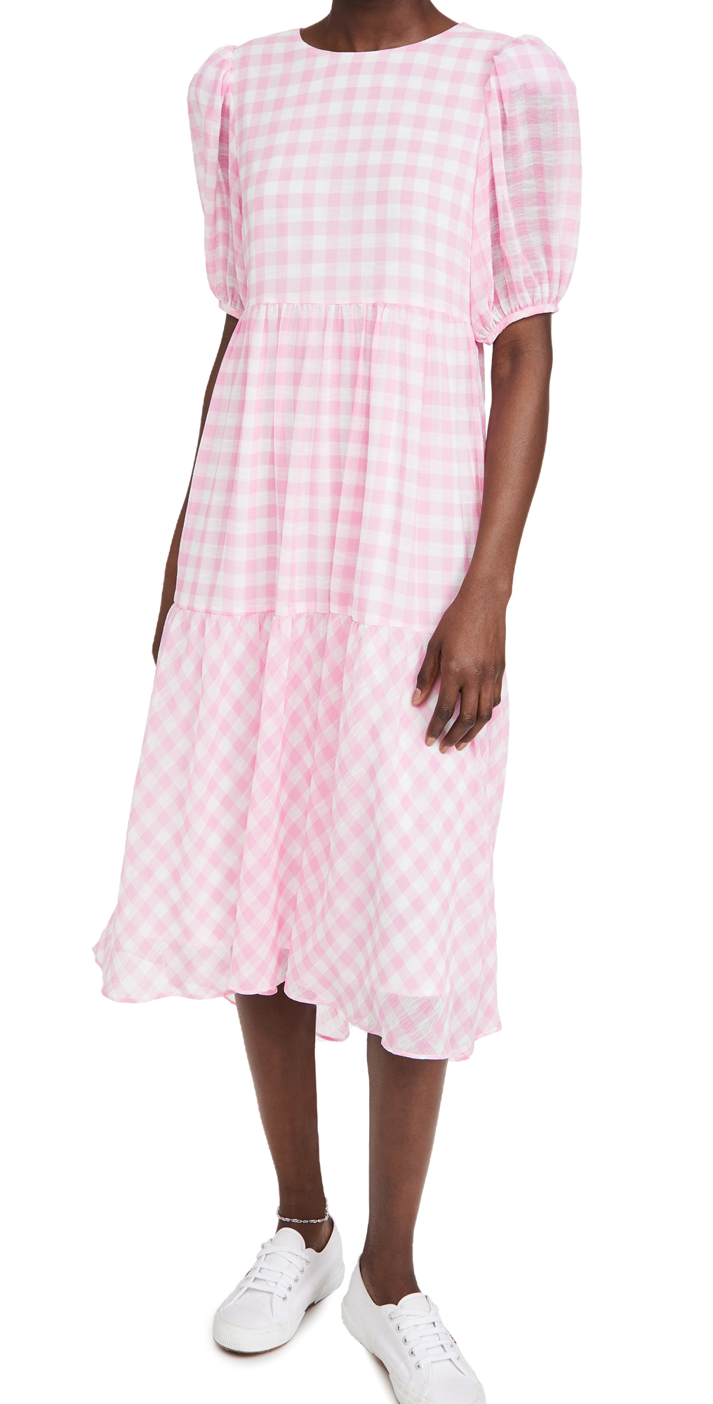 English Factory Midi dresses GINGHAM PRINT MIDI DRESS