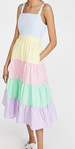 ENGLISH FACTORY - Colorblock Midi Dress