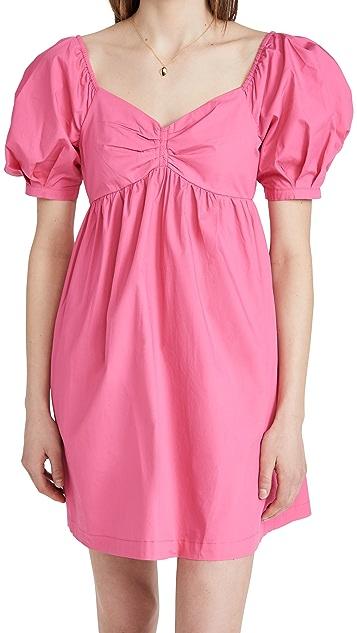 ENGLISH FACTORY Puff Sleeve Babydoll Dress
