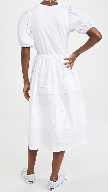 ENGLISH FACTORY 裥褶细节连衣裙
