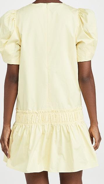 ENGLISH FACTORY Poplin Ruffle Detail Dress