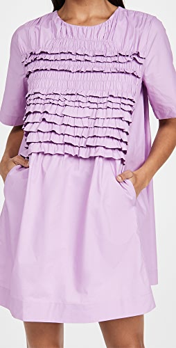 ENGLISH FACTORY - Ruffle Tee Dress