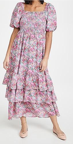 ENGLISH FACTORY - Floral Print Maxi Dress