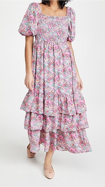 ENGLISH FACTORY 花卉印花长连衣裙