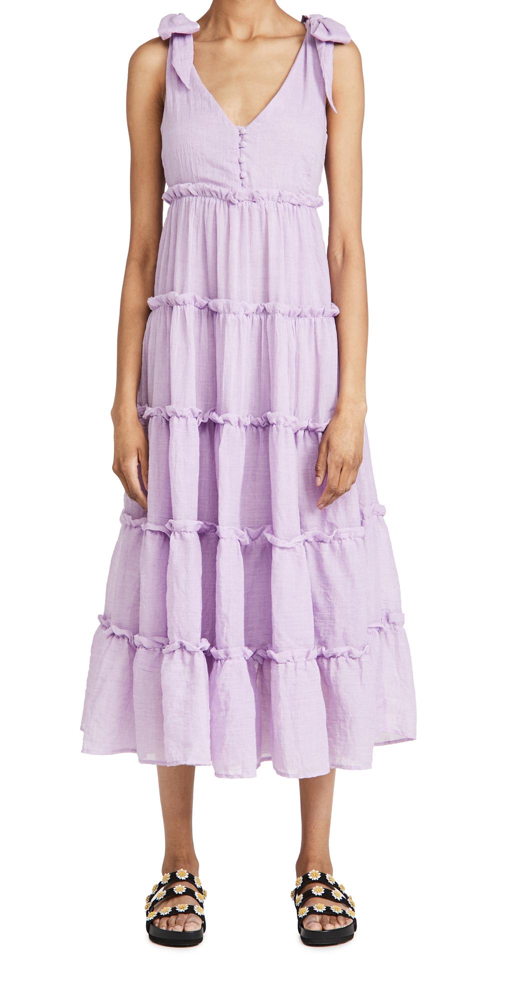 Photo of ENGLISH FACTORY Tiered Midi Dress - shop ENGLISH FACTORY Dresses, Midi Dresses online