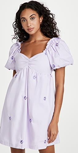 ENGLISH FACTORY - Floral Embroidery Babydoll Dress