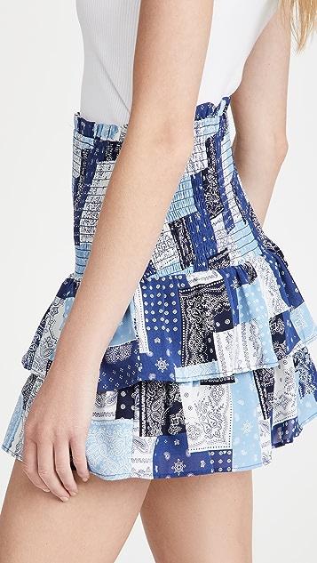 ENGLISH FACTORY Paisley Smocked Mini Skirt