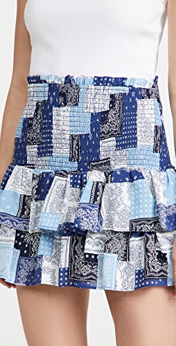 ENGLISH FACTORY - Paisley Smocked Mini Skirt