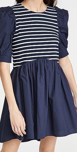 ENGLISH FACTORY - High Low Knit Combo Dress