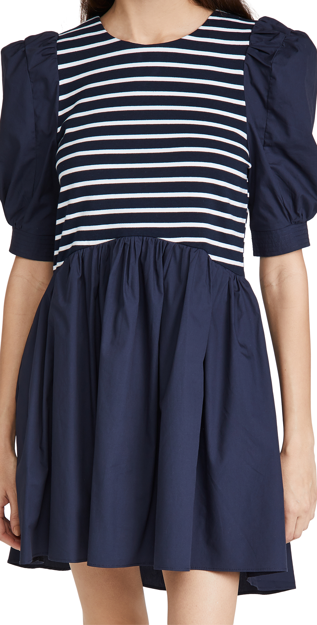 ENGLISH FACTORY High Low Knit Combo Dress