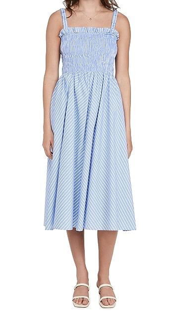 ENGLISH FACTORY Stripe Smocked Dress