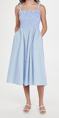 ENGLISH FACTORY - Stripe Smocked Dress