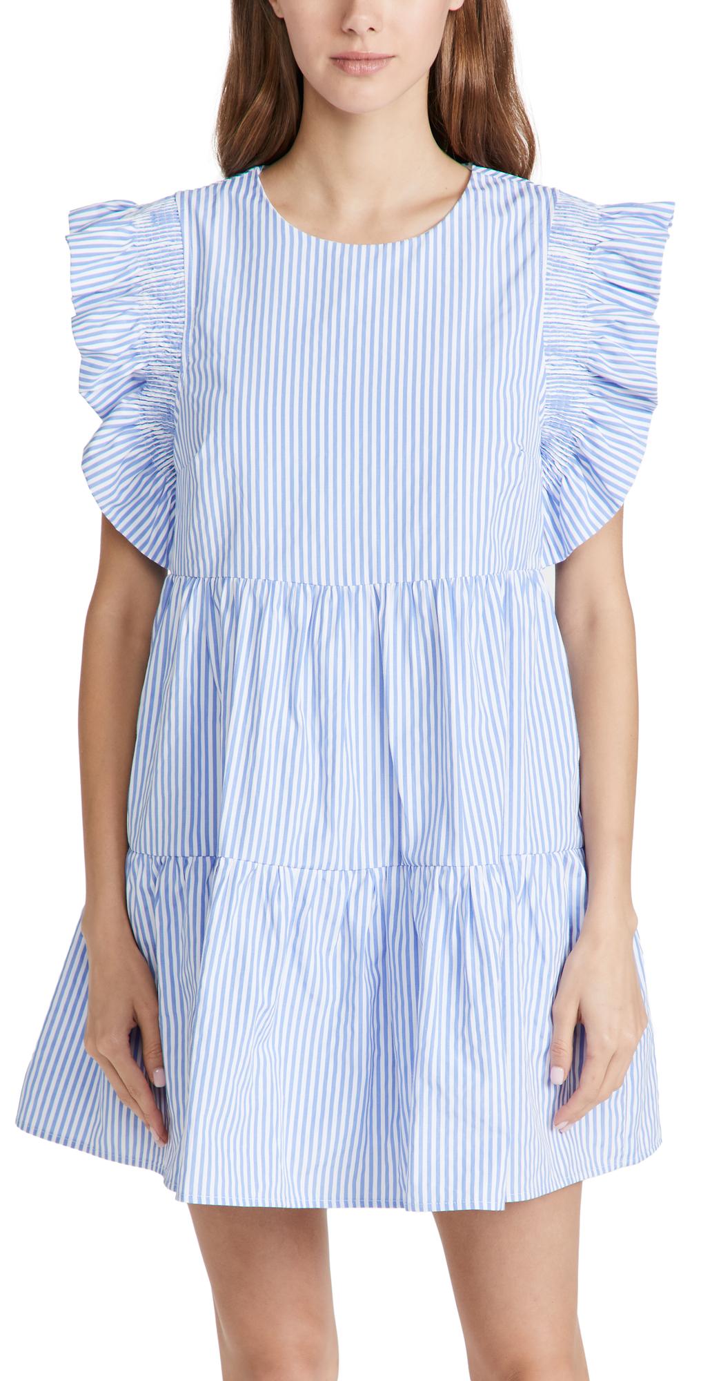 ENGLISH FACTORY Striped Mini Dress