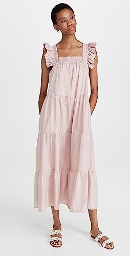 ENGLISH FACTORY - Tiered Midi Dress