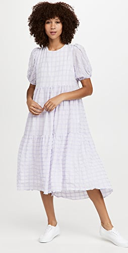 ENGLISH FACTORY - Tiered Gingham Maxi Dress