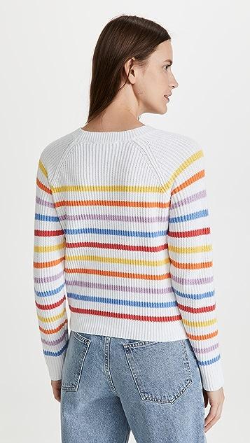 ENGLISH FACTORY 彩色条纹毛衣