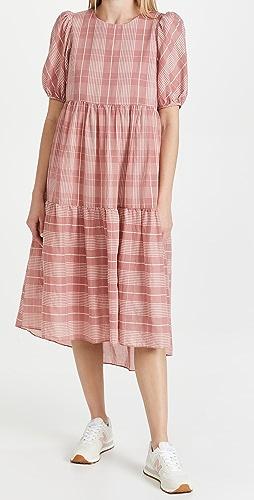 ENGLISH FACTORY - Plaid Midi Dress