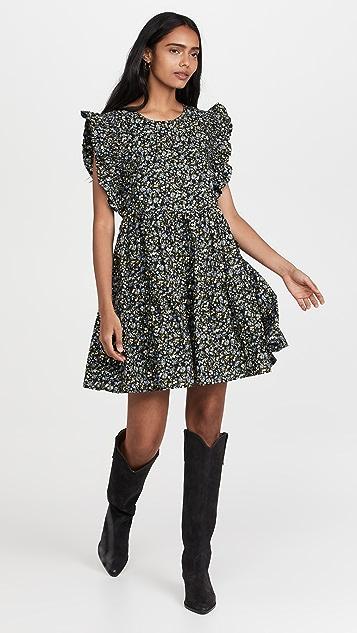ENGLISH FACTORY Floral Ruffled Babydoll Dress