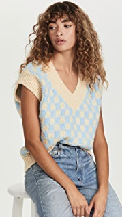 ENGLISH FACTORY Checker Knit Vest