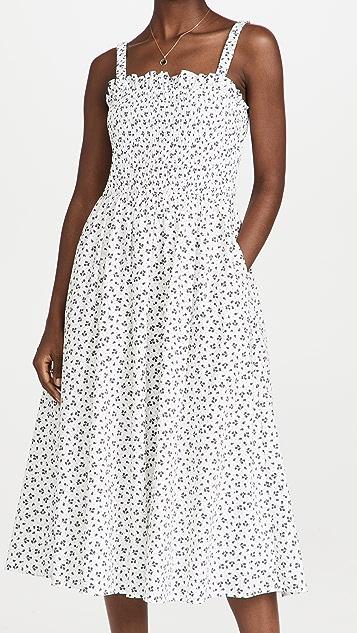 ENGLISH FACTORY Floral Midi Dress