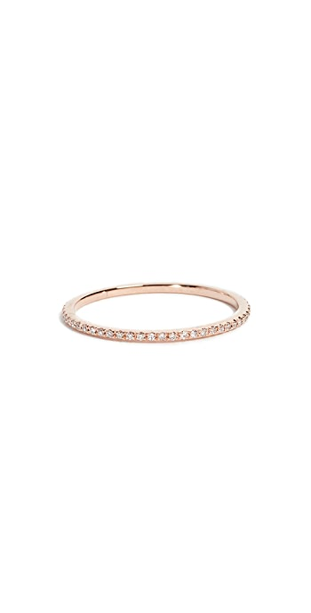 EF Collection 14k Rose Gold Diamond Eternity Stack Ring - Rose Gold/Clear