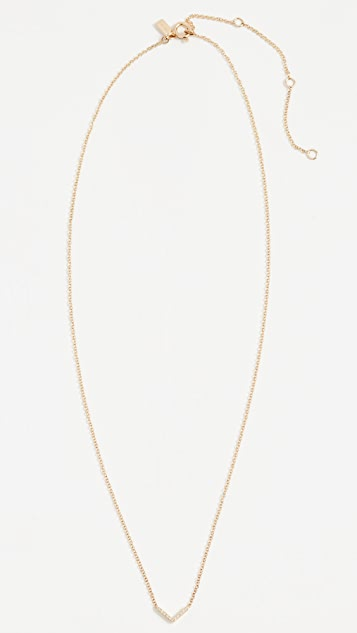 EF Collection 14k Gold Diamond Mini Chevron Necklace