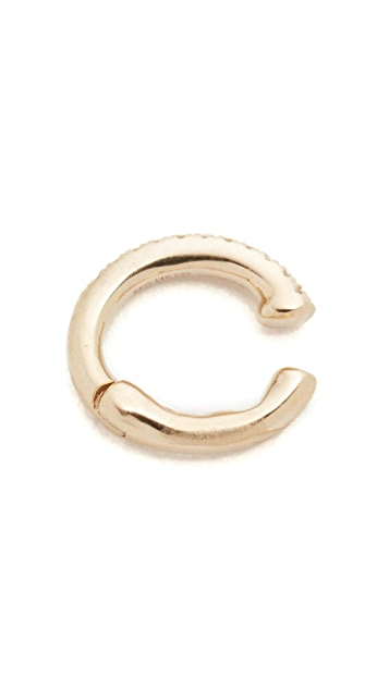 EF Collection Single Diamond Ear Cuff