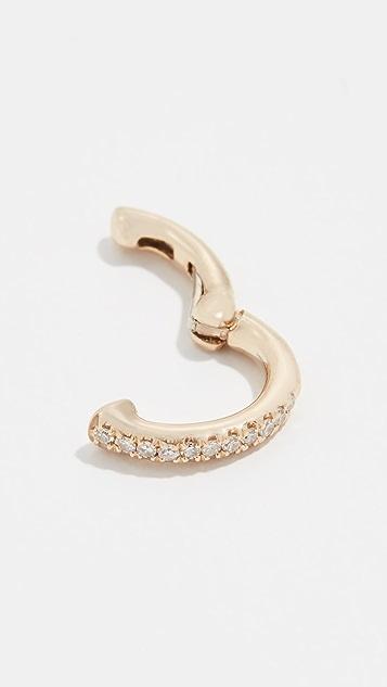 EF Collection 14k Single Diamond Ear Cuff