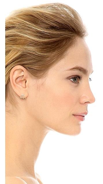EF Collection 14k Rose Gold Multi Huggie Earrings