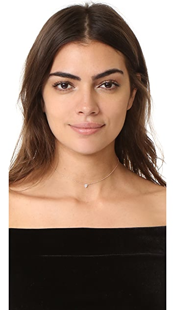 EF Collection 14k Gold Diamond Teardrop Choker Necklace