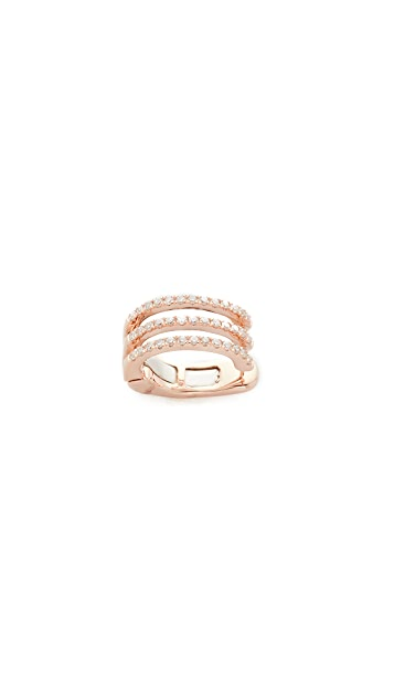 EF Collection Triple Spiral Ear Cuff - Rose Gold