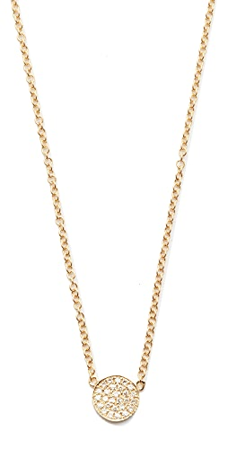 EF Collection - Diamond Mini Disc Necklace