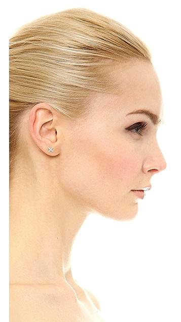 EF Collection Diamond X Single Stud Earring