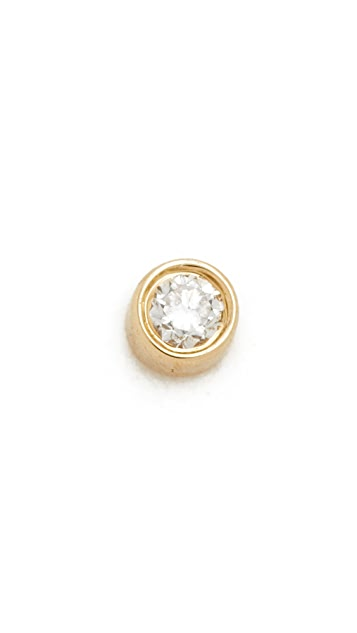 EF Collection Diamond Bezel Single Stud Earring