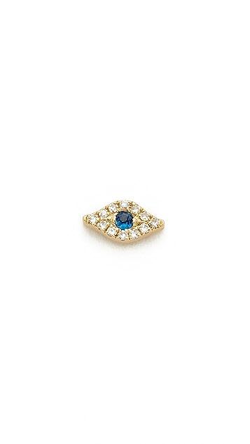 EF Collection Mini Diamond Evil Eye Single Stud Earring