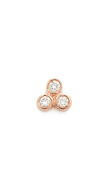 EF Collection Diamond Bezel Single Stud Earring nESmuzM6o