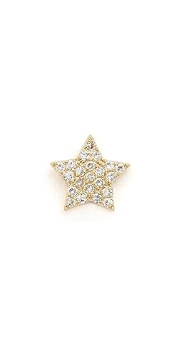 EF Collection - Diamond Star Single Stud Earring